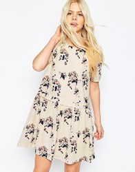 Y.A.S Floral Babydoll Dress White