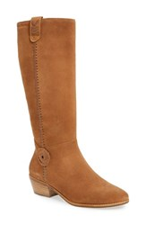 Jack Rogers Women's Sawyer Tall Riding Boot Oak Suede
