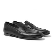 Dunhill Chiltern Leather Loafers Black