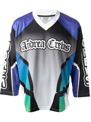 Andrea Crews Colour Block Sports Jersey Multicolour