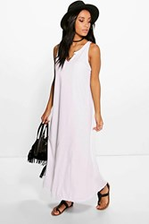 Boohoo Button Front Maxi Dress White