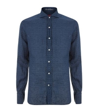 Jacob Cohen Printed Linen Shirt