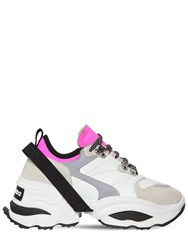Dsquared 70Mm The Giant K2 Mesh And Suede Sneakers Grey