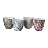 Pols Potten Light Marble Tealight Holders Set Of 4