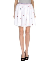 Thierry Colson Knee Length Skirts White