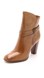 Frye Laurie Zip Short Booties Camel