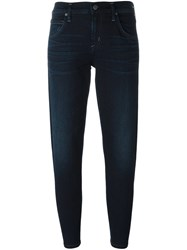Citizens Of Humanity Slim Fit Cropped Jeans Blue