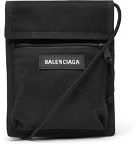 Balenciaga Explorer Canvas Messenger Bag Black
