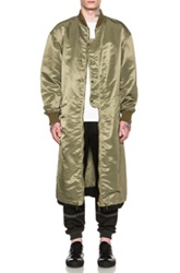 Casely Hayford Crowe Long Bomber In Green