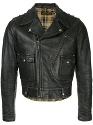 Fake Alpha Vintage 1940S Harley Davidson Motorcycle Jacket Black