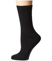 Falke Cosy Wool Sock Black Women's Crew Cut Socks Shoes