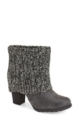 Women's Muk Luks 'Chris' Knit Cuff Bootie 3 1 4' Heel