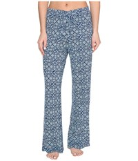 Vera Bradley Knit Pajama Pants Cuban Tiles Women's Pajama Blue