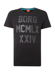 Bjorn Borg Sinclair Short Sleeve Graphic Crew Neck Black
