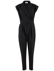 Closet Collar Neck Jumpsuit Black