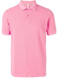 Sun 68 Embroidered Logo Polo Shirt Pink