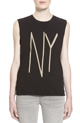 Earnest Sewn 'Troy' Muscle Tee Black