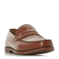 Howick Pudge Penny Loafers Tan