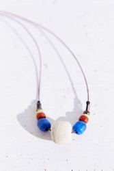 Kate Miss X Urban Renewal Blue Beaded Concrete Necklace Grey