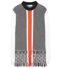 Opening Ceremony Tasselled Macrame Cotton Blend Sweater Multicoloured
