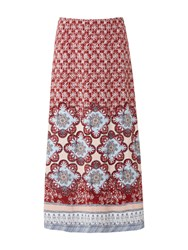 White Stuff Sundance Maxi Jersey Skirt Red