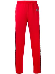 Kappa Track Pants Men Polyester S Red
