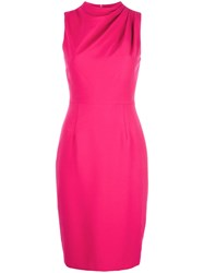 Black Halo Fitted Evening Dress Pink