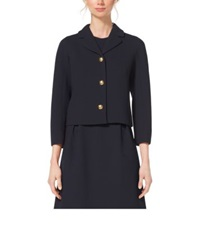 Michael Kors Boucle Crepe Jacket Navy