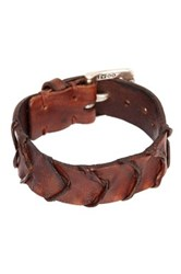 John Varvatos Handworked Scalloped Cuff Bracelet Brown
