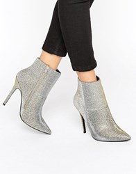 New Look Sparkly Pointed Heeled Ankle Boots Multi Coloured Gold