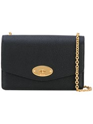 Mulberry Chain Crossbody Bag Women Leather One Size Black