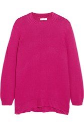 Chinti And Parker Oversized Cashmere Sweater Fuchsia