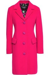 Boutique Moschino Button Detailed Wool And Cashmere Blend Felt Coat Fuchsia