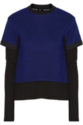 Opening Ceremony Layered Textured Knit Top Black