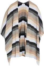 Madeleine Thompson Ribbed Striped Cashmere Wrap Neutral