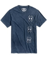 American Rag Men's Graphic Print T Shirt Created For Macy's Basic Navy