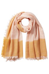 Closed Fringed Scarf With Wool Rose