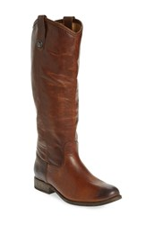 Women's Frye 'Melissa Button' Boot Dark Brown Extended Leather