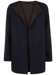 Jaeger Double Faced Wool Duster Coat Midnight