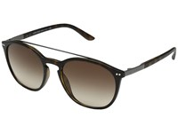 Giorgio Armani 0Ar8088 Matte Dark Havana Brown Gradient Fashion Sunglasses Gold