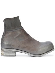 A Diciannoveventitre Kangaroo Knitted Top Band Boots Grey