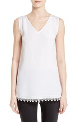 St. John Women's Collection Stretch Silk Crepe De Chine Tank