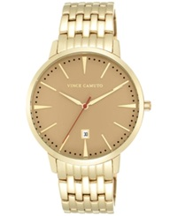 Vince Camuto Women's Gold Tone Stainless Steel Bracelet Watch 40Mm Vc 1074Gdgp
