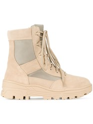 Yeezy Combat Boots Men Cotton Leather Suede Rubber 46 Nude Neutrals