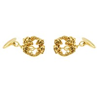 Lee Renee Rose Halo Cufflinks Gold Neutrals Gold Yellow