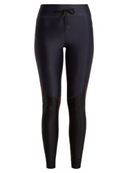 The Upside Racing Block Performance Leggings Navy