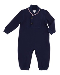 Gucci Shawl Collar Jersey Coverall Blue Size 3 18 Months