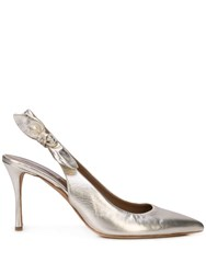 Tabitha Simmons Millie Pumps Gold
