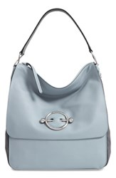 J.W.Anderson Disc Leather Hobo Bag Blue Ice Blue