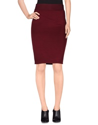 Only Knee Length Skirts Maroon